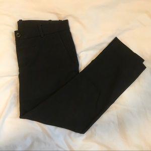 uniqlo black cropped trouser